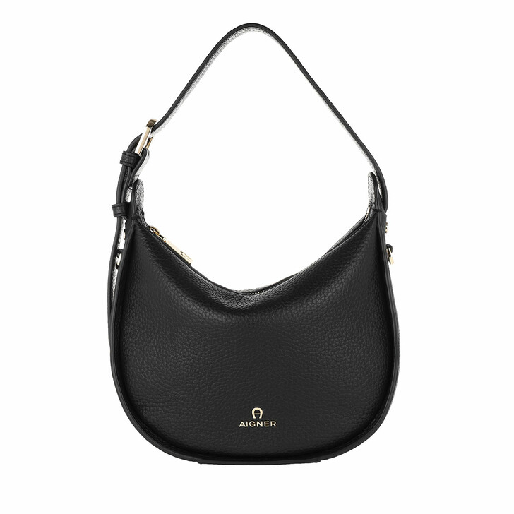 bags, AIGNER, Ivy Handle Bag Black