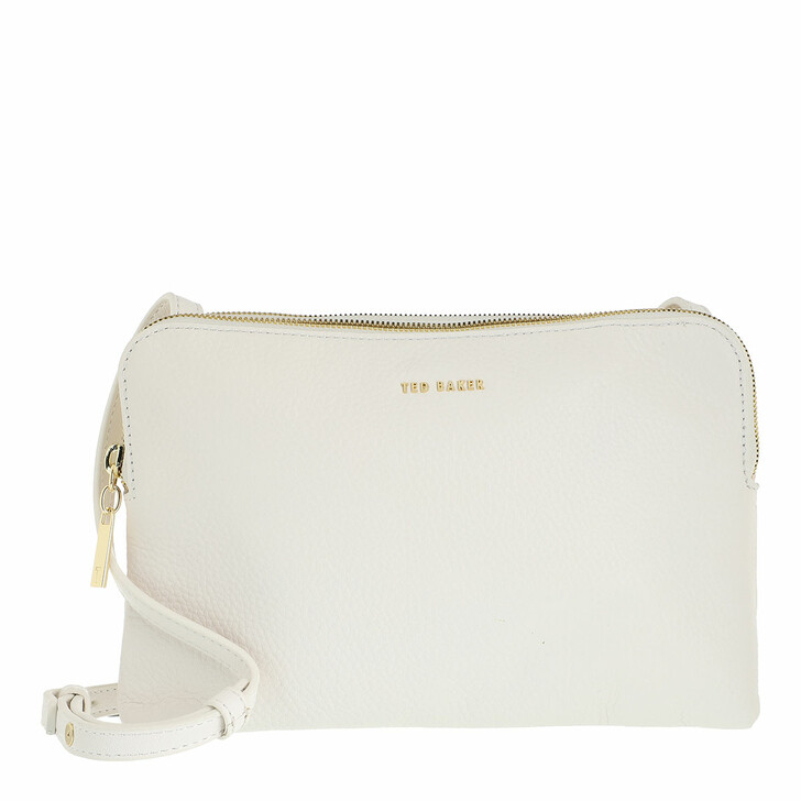 Handtasche, Ted Baker, Ciara Soft Leather Double Pouch Crossbody Ivory