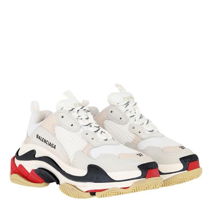 shoes, Balenciaga, Triple S Sneakers White/Red