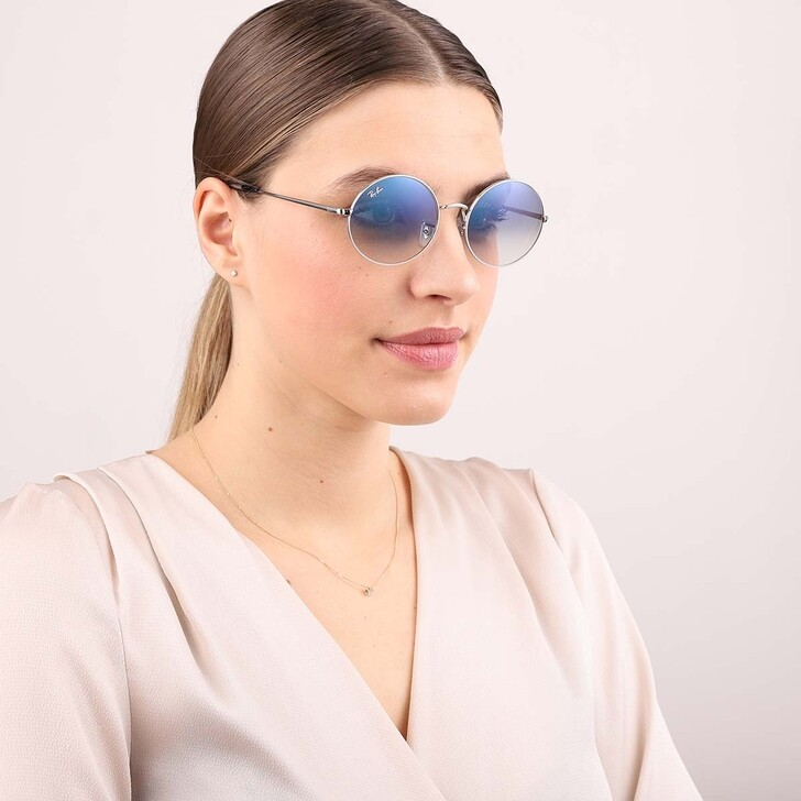 Sonnenbrille, Ray-Ban, Unisex Sunglasses Icons Shape Family 0RB1970 Silver