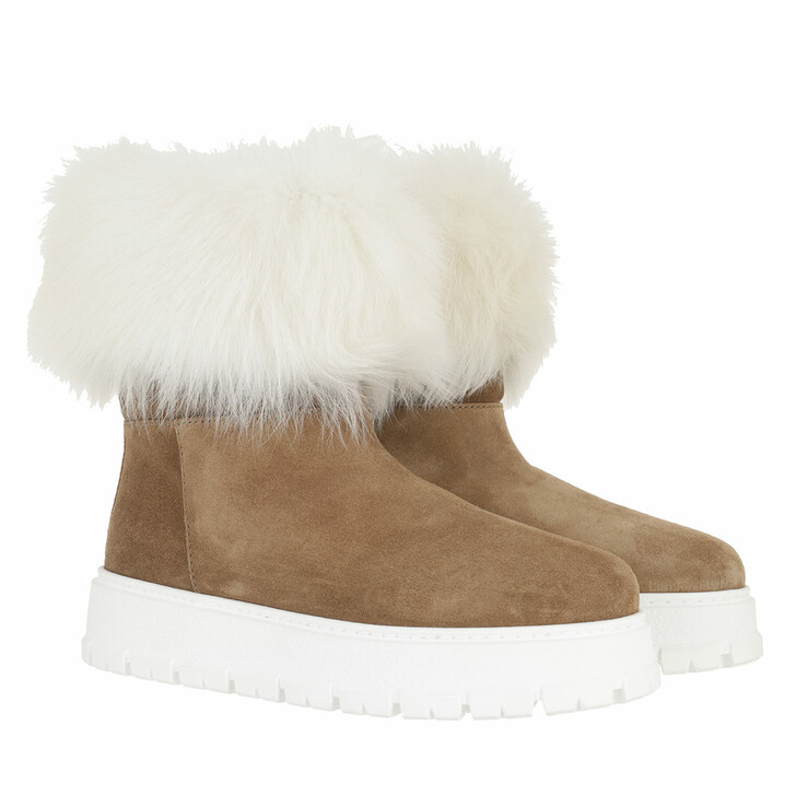 shoes, Prada, Medium Boots Brown