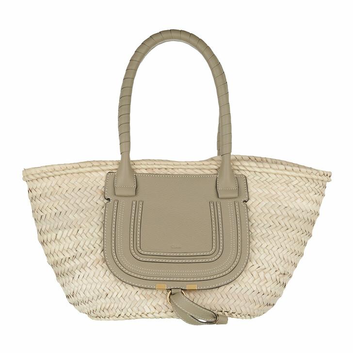 bags, Chloé, Marcie Carryall Basket Bag Calfskin Potterygreen