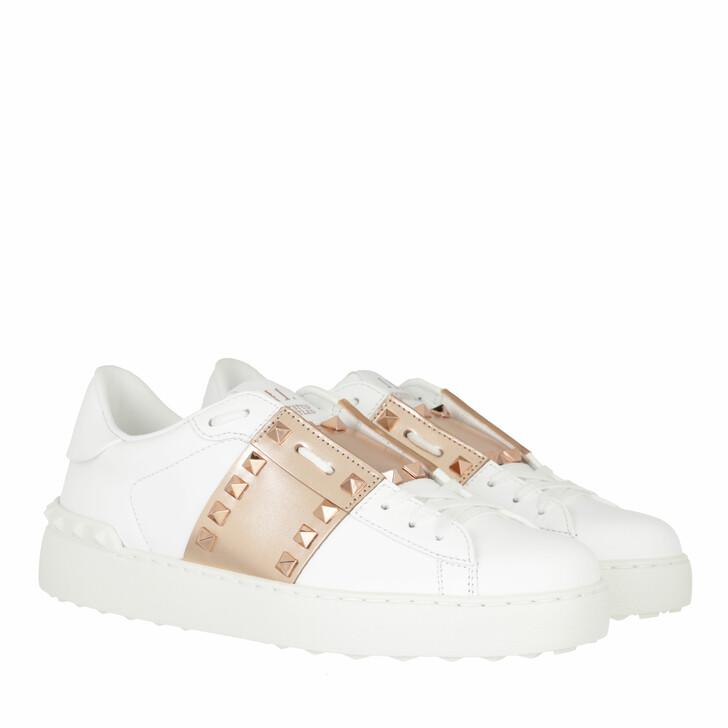 shoes, Valentino Garavani, Open Sneakers White Gold