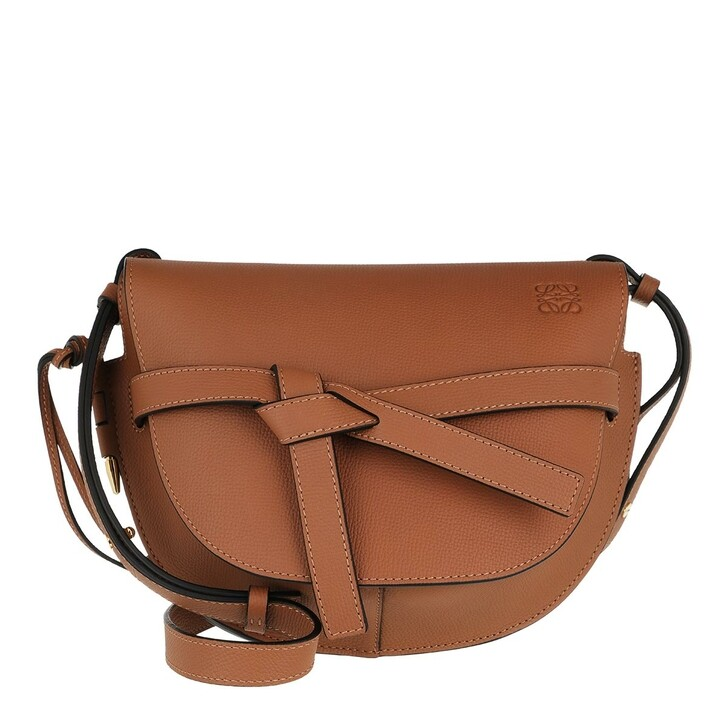 Handtasche, Loewe, Small Gate Crossbody Bag Pebble Grain Calfskin Tan