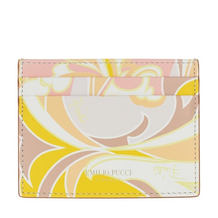 wallets, Emilio Pucci, Credit Card Holder Tropicana Baby Rosa/Pesca