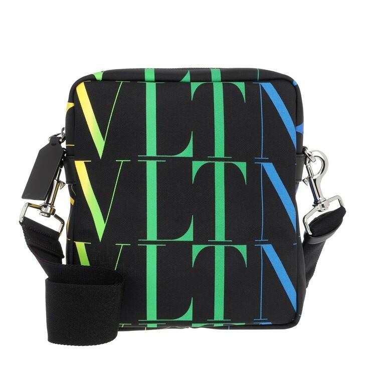 Handtasche, Valentino Garavani, Men VLTN Messenger Bag Black/Multi