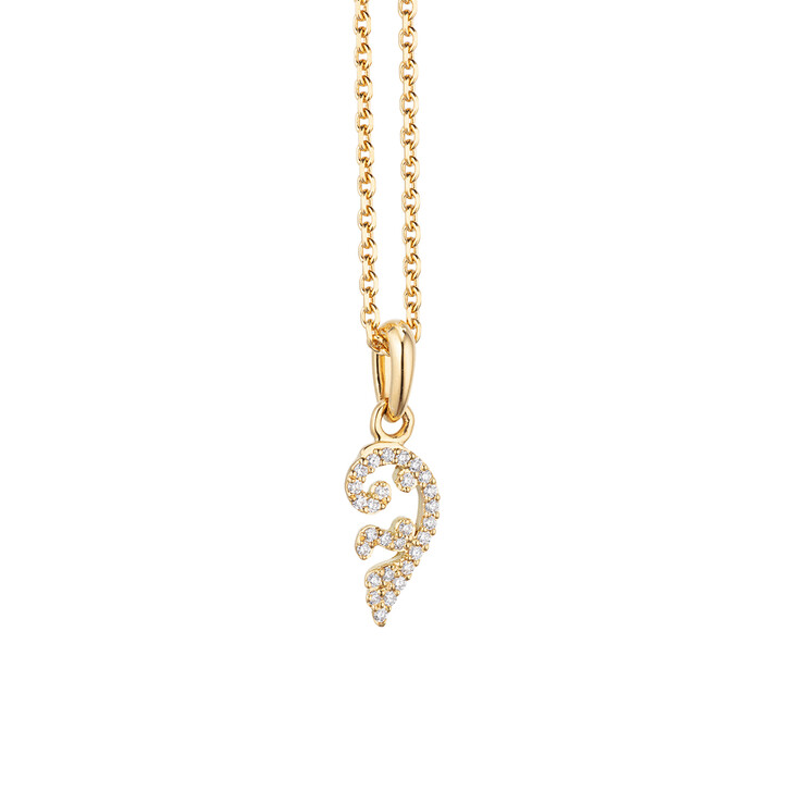 "necklaces, Capolavoro, Necklace ""Joy"" 28 Diamonds Brilliant Cut 18K Yellow Gold"