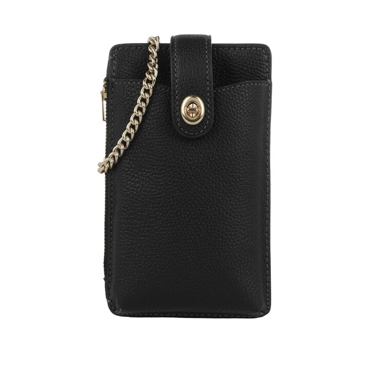 Smartphone/Tablet case (Case), Coach, Polished Pebble Turnlock Chain Phone Crossbody Gd/Black
