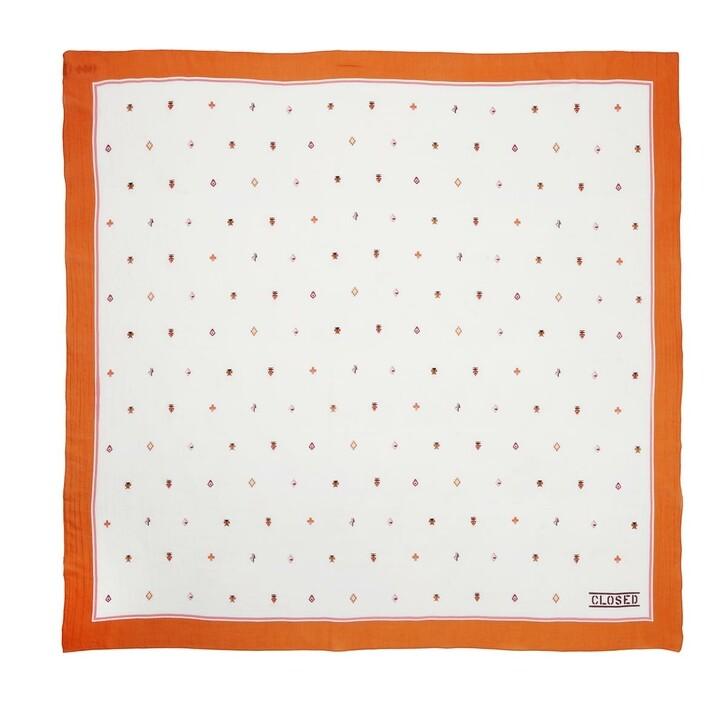 Schal, Closed, Scarf Ivory/Orange