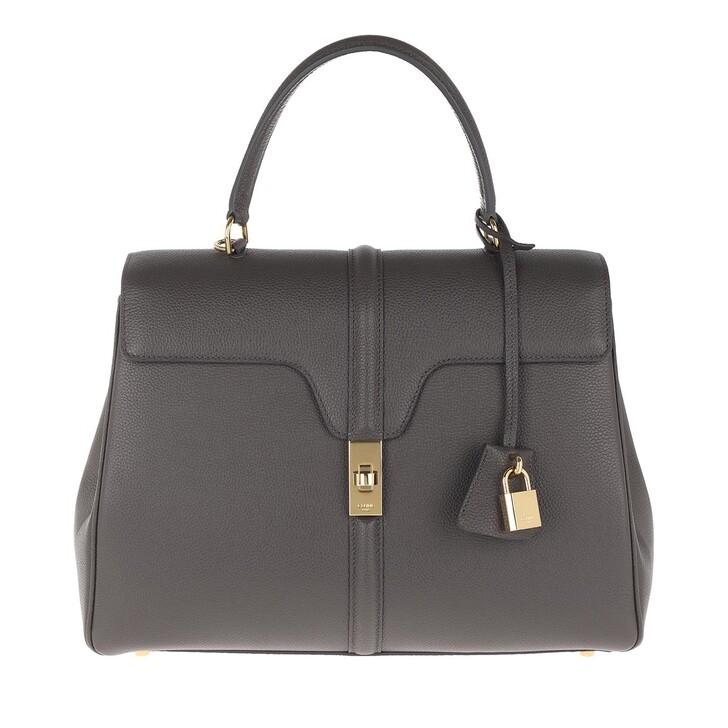 Handtasche, Celine, 16 Bag Medium Grained Calfskin Grey