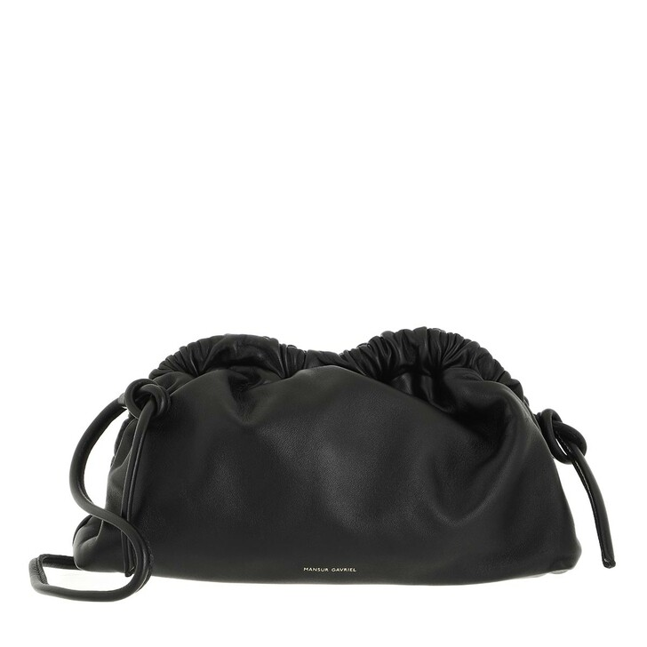 bags, Mansur Gavriel, Mini Cloud Clutch Leather Black/Flamma