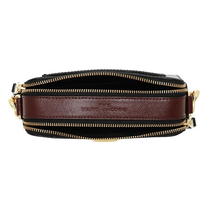 Handtasche, Marc Jacobs, Snapshot Small Camera Bag Black Black/Red