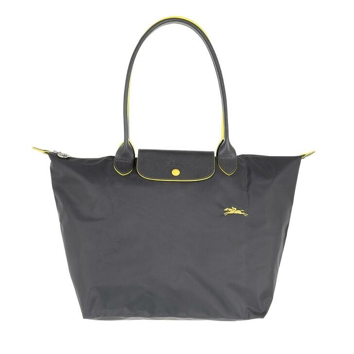 bags, Longchamp, Le Pliage Club Shoulder Bag  Metal Grey