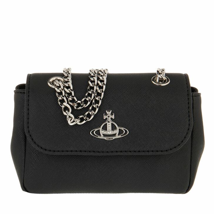 Geldbörse, Vivienne Westwood, Derby Small Purse With Chain Black
