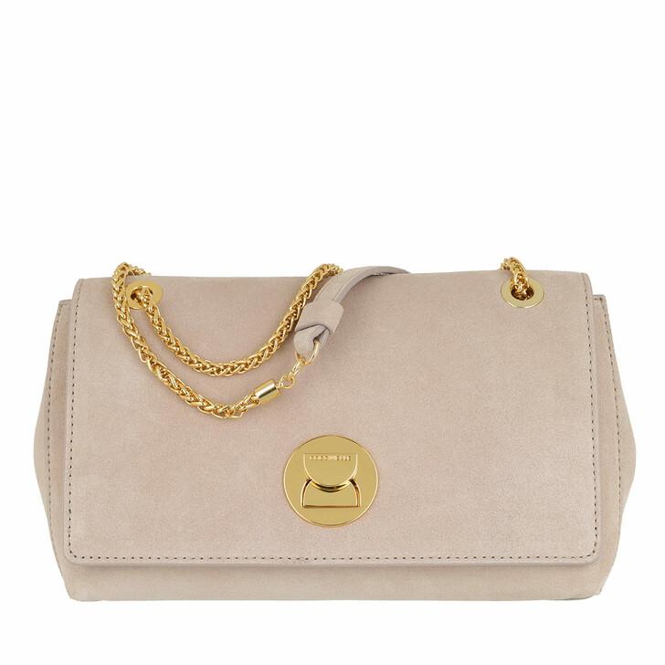 bags, Coccinelle, Liya Suede Crossbody Bag Powder Pink/Powder Pink