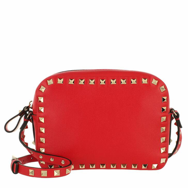 bags, Valentino Garavani, Rockstud Camera Crossbody Bag Red