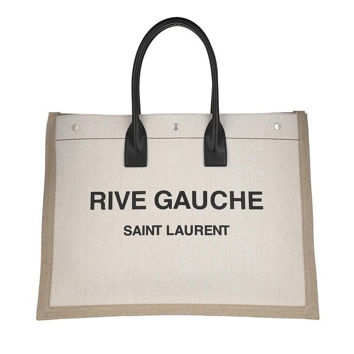 Handtasche, Saint Laurent, Men Rive Gauche Tote Bag Lino/Black