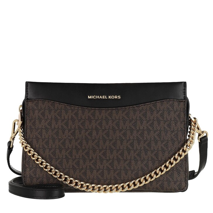 Handtasche, MICHAEL Michael Kors, Jet Set Large Convertible Chain Xbody Brown/Black