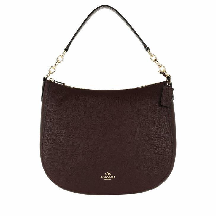 Handtasche, Coach, Polished Leather Chelsea Hobo Bag Oxblood