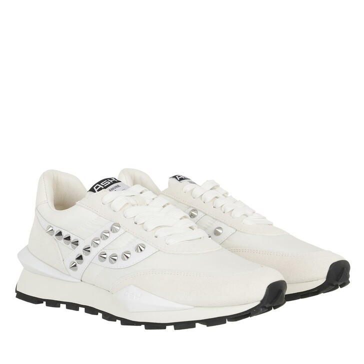 shoes, Ash, Spider Stud 02 Sneaker Suede White