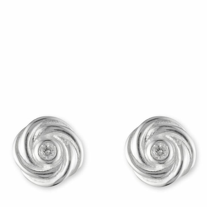 earrings, Lauren Ralph Lauren, Earrings Knot Stud Silver/Diamond