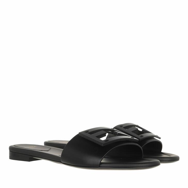 shoes, Fendi, Signature Sandals Black