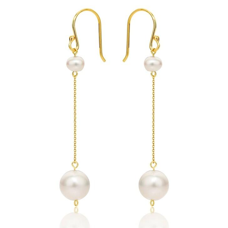 Ohrring, DIAMADA, 14KT (585) Pearl Earrings Yellow Gold