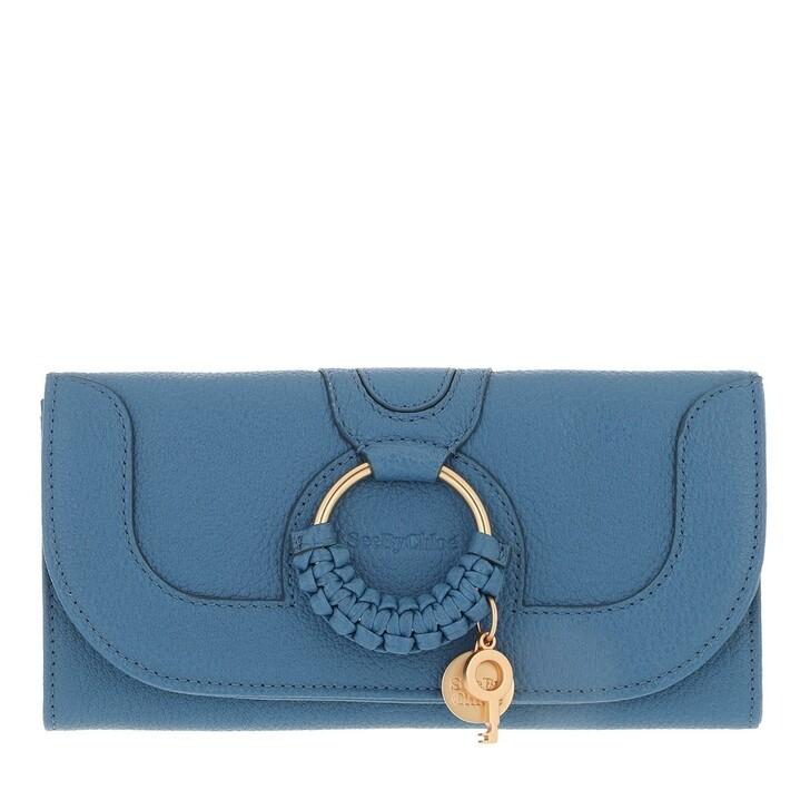 wallets, See By Chloé, Hana Wallet Large Moonlight Blue
