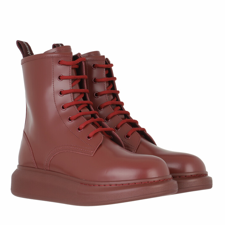 shoes, Alexander McQueen, Hybrid Boots Red
