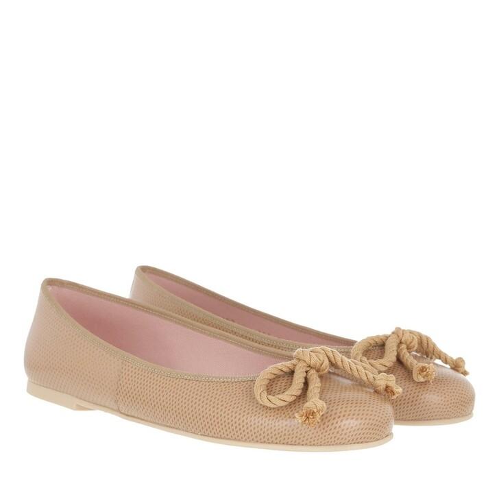 Schuh, Pretty Ballerinas, Rossario Ballerina Shoes Tobacco Lizard Print