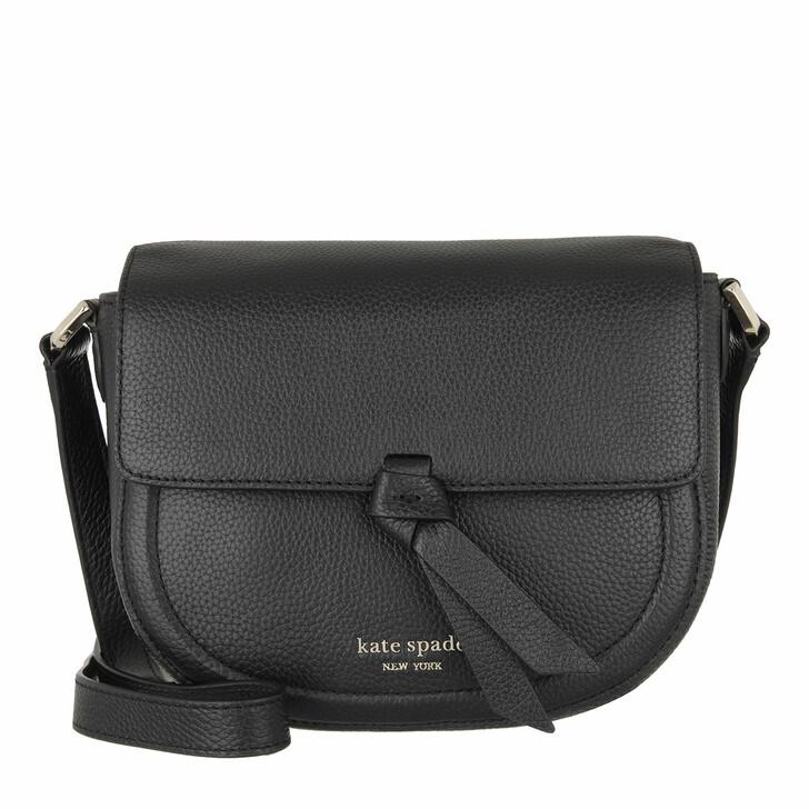Handtasche, Kate Spade New York, Medium Saddle Bag  Black