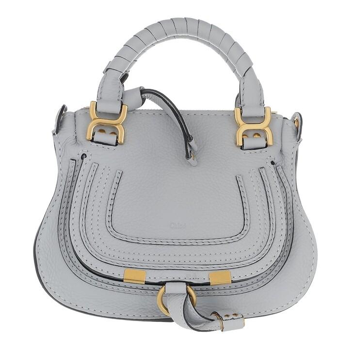 Handtasche, Chloé, Mini Marcie Crossbody Bag Light Cloud