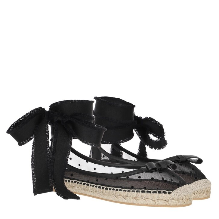 Schuh, Red Valentino, Espadrilles Black/Naturale