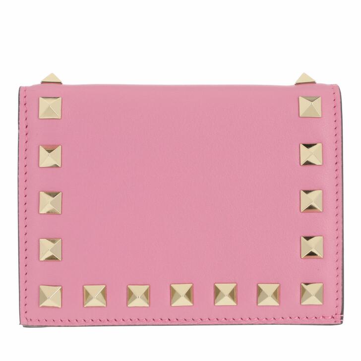wallets, Valentino Garavani, Rockstud Small Wallet Dawn Pink