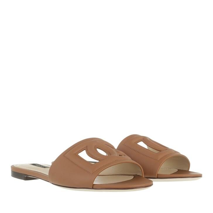 shoes, Dolce&Gabbana, Bianca Mules Light Brown