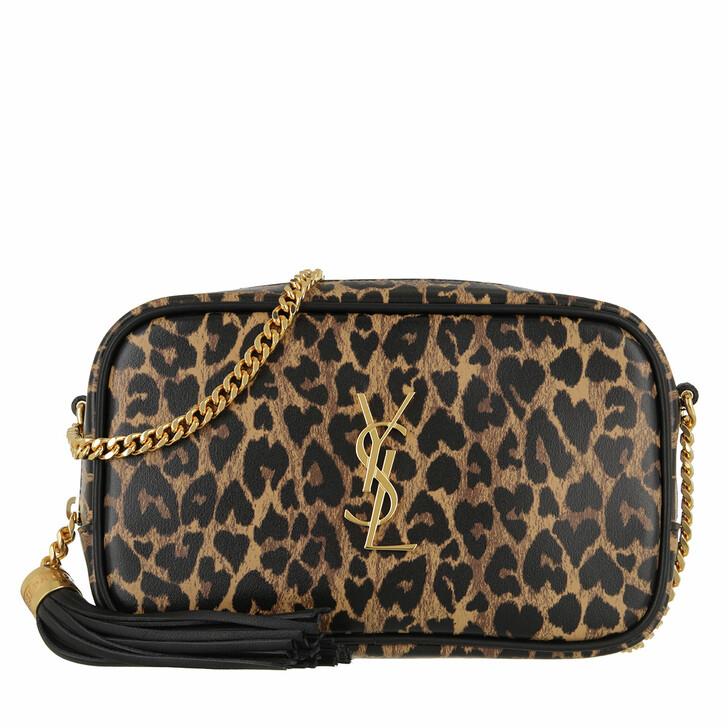 Handtasche, Saint Laurent, Lou Mini Crossbody Bag Leather Leopard