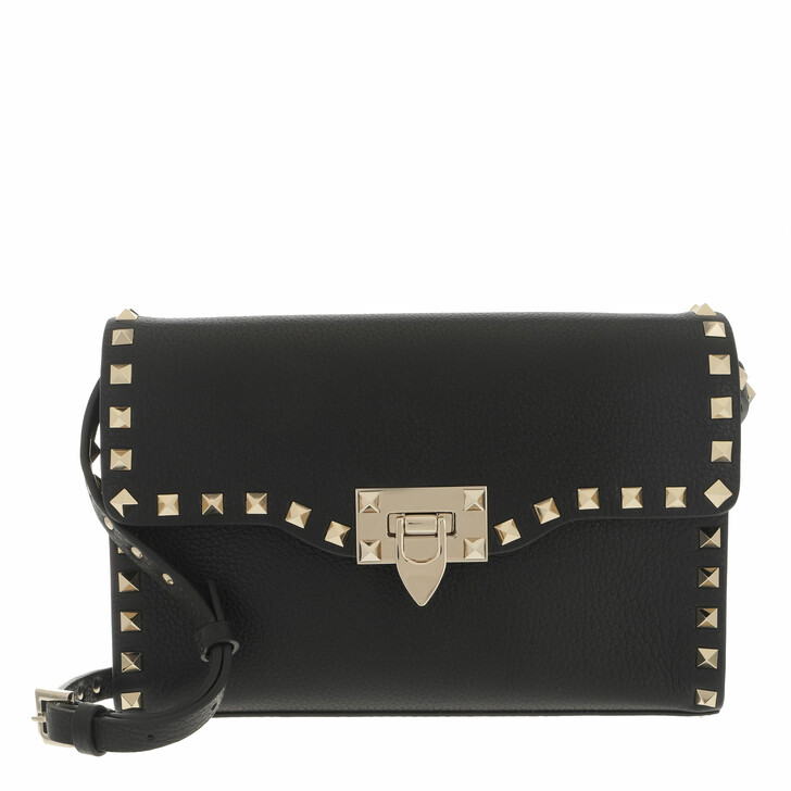 bags, Valentino Garavani, Rockstud Small Crossbody Bag Black