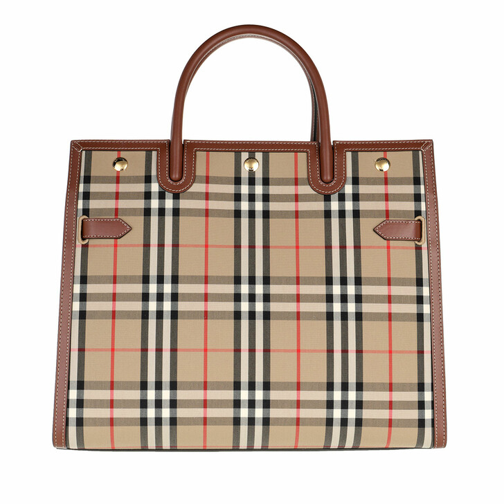 bags, Burberry, Medium Title Tote Bag Vintage Check Archive Beige