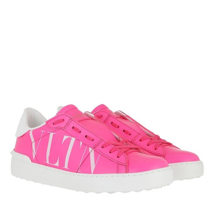 Schuh, Valentino Garavani, VLTN Sneakers Rosa Fluo/Bianco