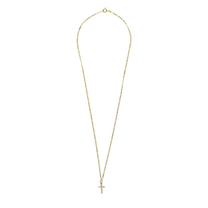 Kette, LLR Studios, Tiny Fiagro X Cross 55cm Necklace Gold