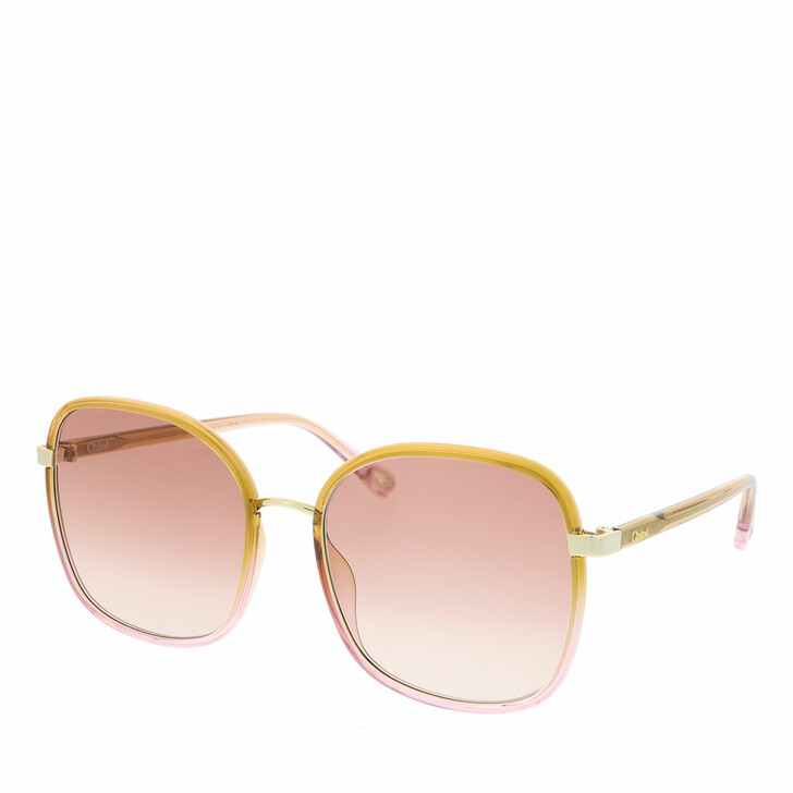 Sonnenbrille, Chloé, Sunglass WOMAN INJECTION YELLOW-YELLOW-ORANGE