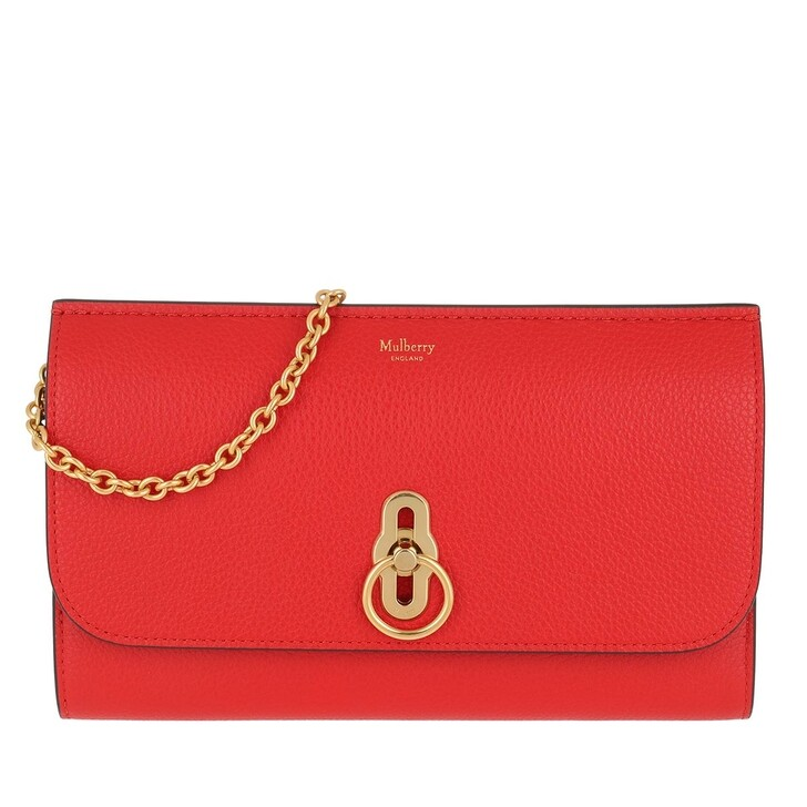 Handtasche, Mulberry, Amberley Clutch Leather Lipstick Red