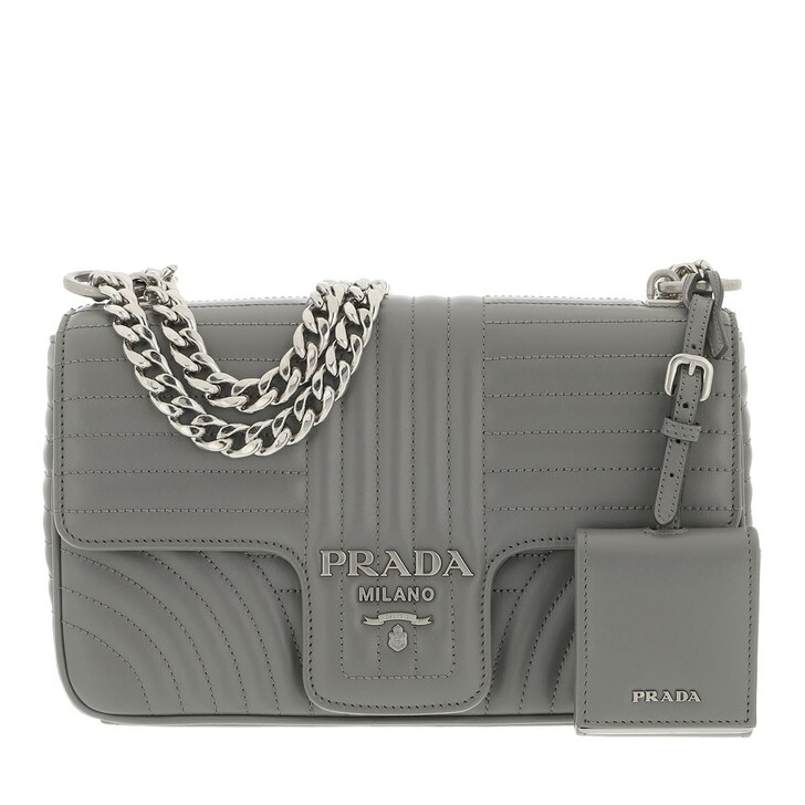 bags, Prada, Diagramme Shoulder Bag Medium Leather Marble