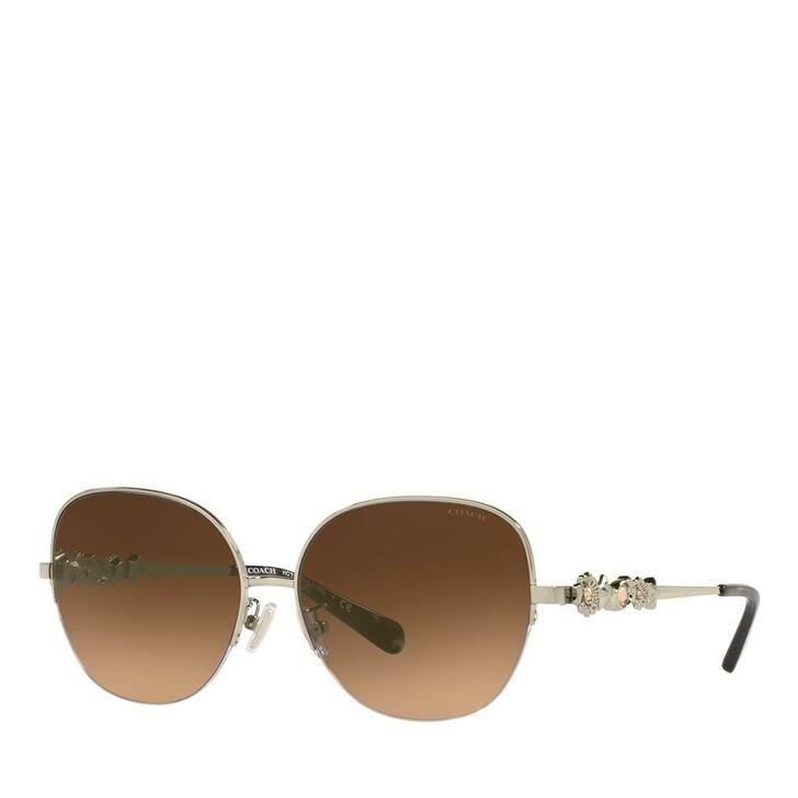 Sonnenbrille, Coach, 0HC7118B Light Gold/Dark Brown