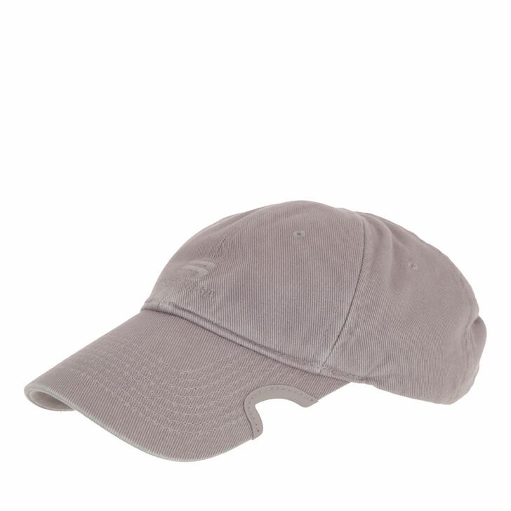hats, Balenciaga, Logo Cap Steel Grey