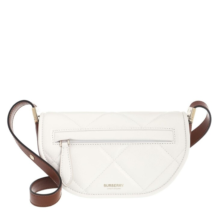 Handtasche, Burberry, Mini Olympia Crossbody Bag White Brown