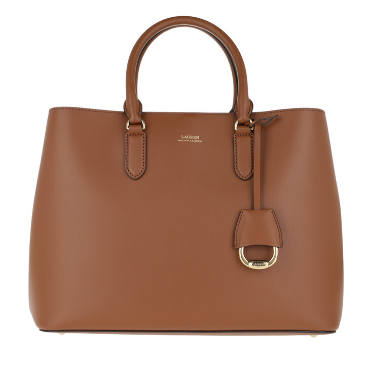 Handtasche, Lauren Ralph Lauren, Marcy Satchel Large Lauren Tan/Monarch Orange
