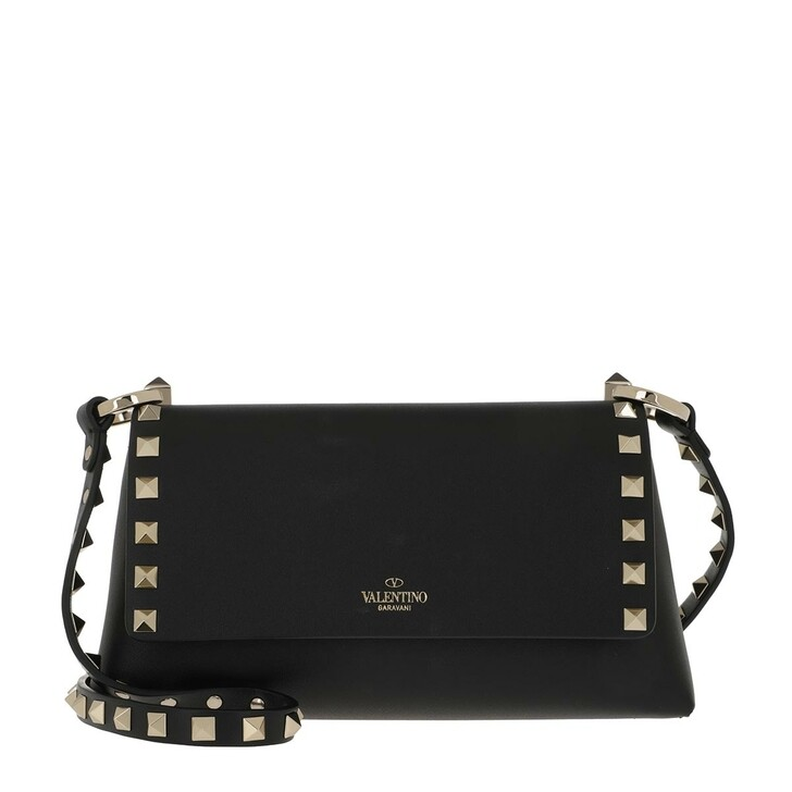 bags, Valentino Garavani, Rockstud Crossbody Bag Leather Nero