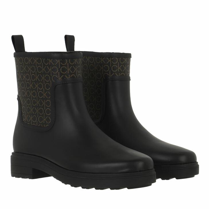 shoes, Calvin Klein, Rain Boot Mono Black/Brown Mono
