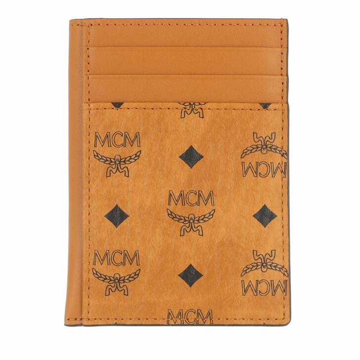 wallets, MCM, Visetos Original New N/S Card Case Cognac